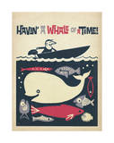 Havin' A Whale Of A Time! Poster by  Anderson Design Group
