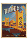Sacramento, California: Scenic Tower Bridge Poster af Anderson Design Group
