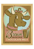 Brown Bovine Chocolate Milk Posters by  Anderson Design Group