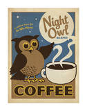 Night Owl Blend Coffee Posters par  Anderson Design Group