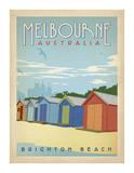 Melbourne, Australia: Brighton Beach Póster por Anderson Design Group
