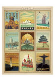 World Travel Multi Print II Posters av  Anderson Design Group