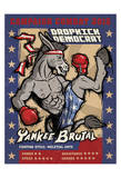 Dropkick Democrat Poster by  Anderson Design Group