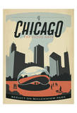 Chicago: The Cloud Gate Plakat af Anderson Design Group