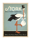 Stork Delivery Service (Blue) Lámina por  Anderson Design Group