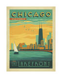 Chicago, Illinois: Enjoy The Lakefront Giclee Print by  Anderson Design Group