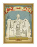 Washington, D.C. (Lincoln Memorial) Poster by  Anderson Design Group
