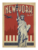 New York, NY (Statue of Liberty) Art by  Anderson Design Group