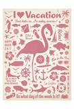 I Love Vacation (Flamingo) Poster par  Anderson Design Group