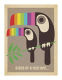 Rainbow Toucans Plakater af Anderson Design Group