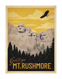 Greetings from Mt. Rushmore Posters by  Anderson Design Group