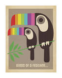 Rainbow Toucans Affiches par  Anderson Design Group