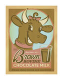 Brown Bovine Chocolate Milk Art by  Anderson Design Group