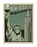 New York, NY: The Empire City Poster by  Anderson Design Group