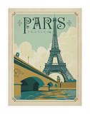 Paris, France (Eiffel Tower Blue Sky) Posters par  Anderson Design Group
