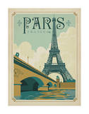 Paris, France (Eiffel Tower Blue Sky) Posters af Anderson Design Group