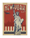 New York, NY (Statue of Liberty) Poster by  Anderson Design Group