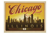 Chicago, Illinois (Skyline) Prints by  Anderson Design Group