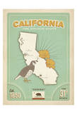 California: The Golden State Prints by  Anderson Design Group
