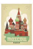 Moscou, Russie Affiche par  Anderson Design Group
