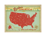 Explore America: From Sea To Shining Sea Giclee Print by  Anderson Design Group