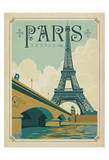 Paris, France (Eiffel Tower Blue Sky) Plakater af  Anderson Design Group