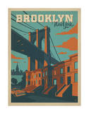 Brooklyn, New York Poster par  Anderson Design Group