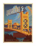 Sacramento, California: Scenic Tower Bridge Lámina por Anderson Design Group