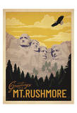 Greetings from Mt. Rushmore Prints by  Anderson Design Group