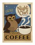 Anderson Design Group - Night Owl Blend Coffee Umělecké plakáty