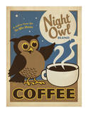 Night Owl Blend Coffee Print by  Anderson Design Group