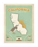 California: The Golden State Posters by  Anderson Design Group