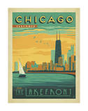 Chicago, Illinois: Enjoy The Lakefront Poster di  Anderson Design Group