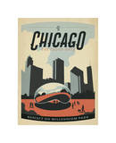 Chicago: The Cloud Gate Giclée-tryk af Anderson Design Group