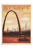 St. Louis, Missouri: Gateway To The West Poster by  Anderson Design Group