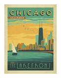 Chicago, Illinois: Enjoy The Lakefront Póster por Anderson Design Group