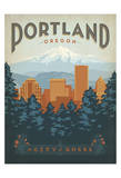 Portland, Oregon Posters by  Anderson Design Group