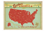 Explore America: From Sea To Shining Sea Poster by  Anderson Design Group