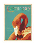 Flamingo Lounge Poster by  Anderson Design Group