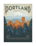 Portland, Oregon Prints by  Anderson Design Group