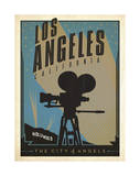 Los Angeles, California: The City of Angels Art by  Anderson Design Group