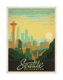 Come Visit Beautiful Seattle, Washington Prints by  Anderson Design Group