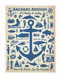 Anchors Away! Plakat af Anderson Design Group
