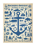 Anchors Away! Lámina por  Anderson Design Group