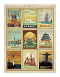 World Travel Multi Print II Imágenes por Anderson Design Group