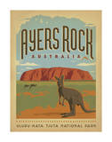Ayers Rock, Australia Lámina giclée por Anderson Design Group
