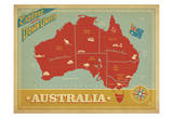 Explore Australia, The Land Down Under Posters por  Anderson Design Group