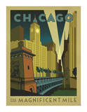 Anderson Design Group - Chicago: The Magnificent Mile - Poster