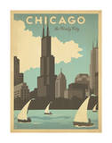 Chicago: The Windy City Poster von  Anderson Design Group