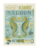 Welcome To The Seahorse Saloon Prints by  Anderson Design Group